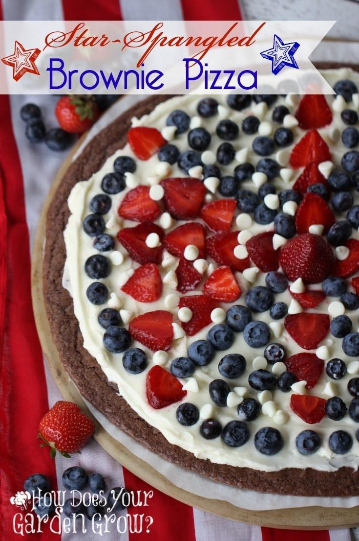 Fourth Of July Brownies  Star Spangled Brownie Pizza Plus 50 Patriotic Desserts