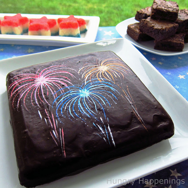 Fourth Of July Brownies  Add some fireworks to your brownies this 4th of July