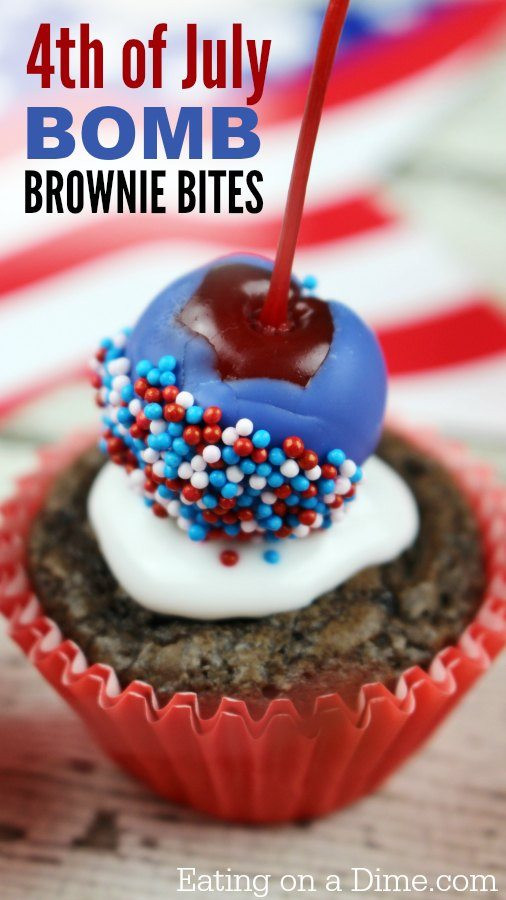 Fourth Of July Brownies  4th of July Brownies Easy Bomb Brownie Bites Eating on