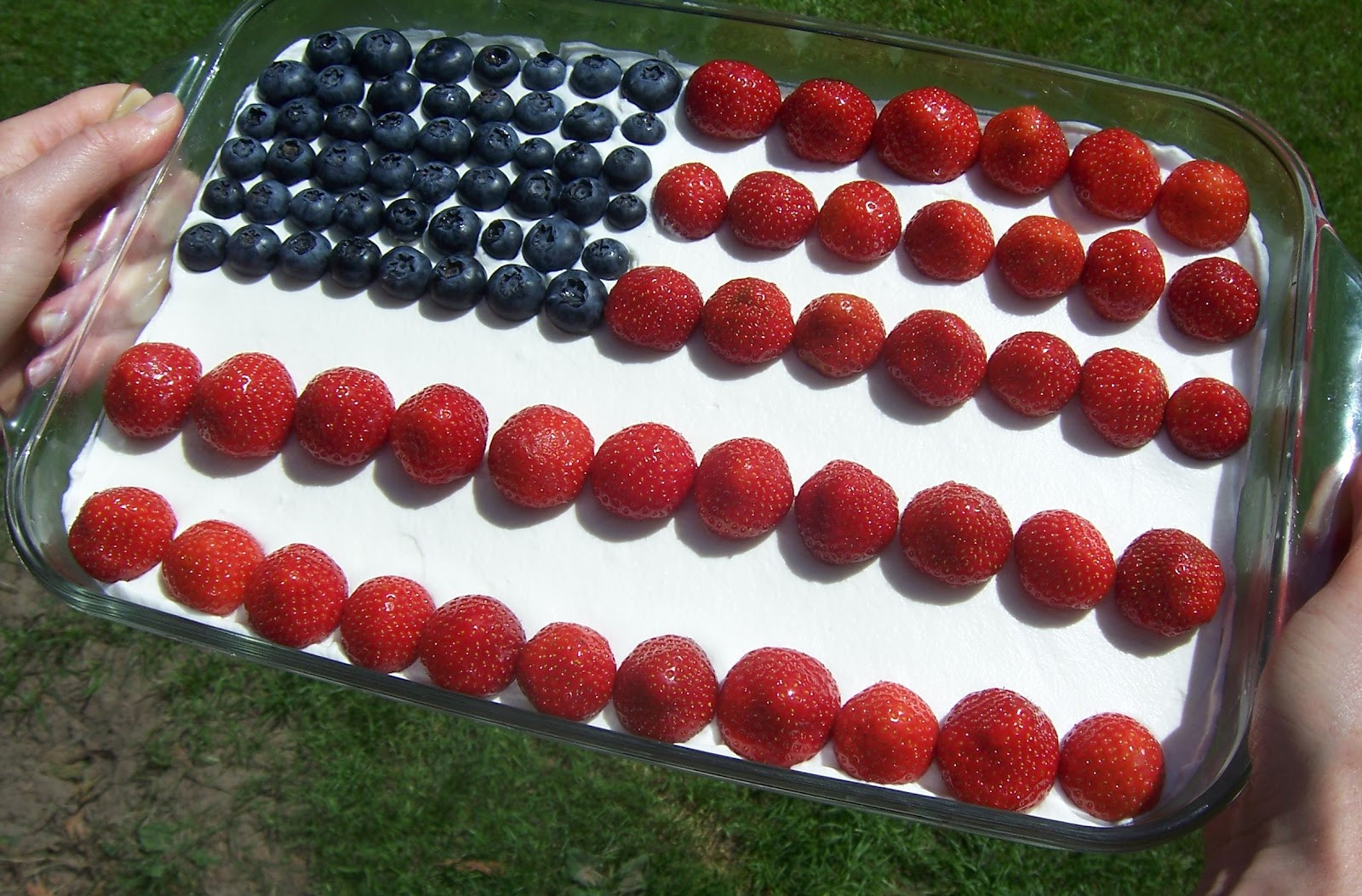 Fourth Of July Brownies  Cake Is Love Abroad 4th of July American Flag Brownies