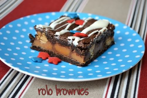 Fourth Of July Brownies  Ice Cream Before Dinner Rolo Brownies and Quick 4th of