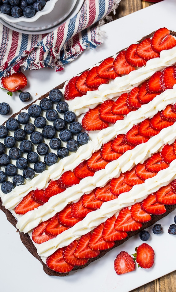 Fourth Of July Brownies  Brownie Flag Recipe Spicy Southern Kitchen