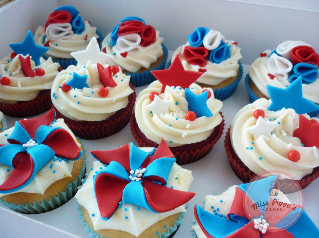 Fourth Of July Cupcakes  4th of July Cupcakes