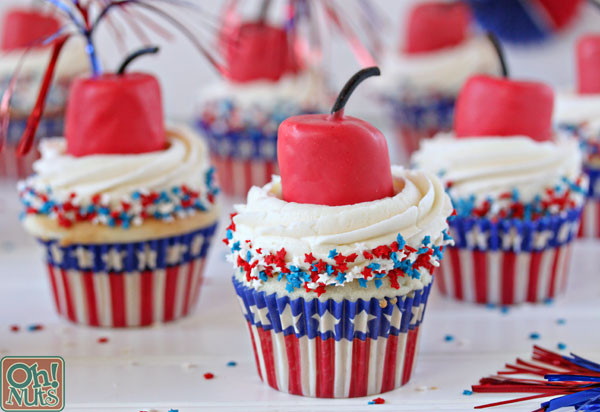 Fourth Of July Cupcakes  Firecracker Cupcakes for the Fourth of July