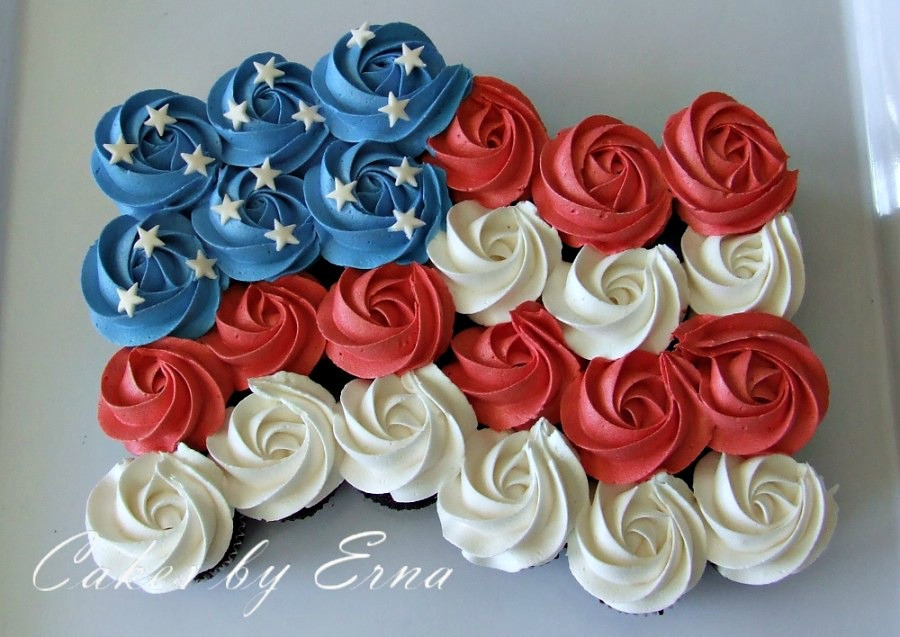 Fourth Of July Cupcakes  4th of July Cake — 4th of July Cupcakes