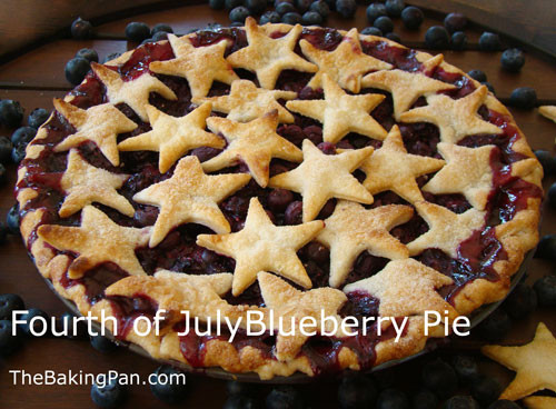 Fourth Of July Pie Recipes  Fourth of July Blueberry Pie Recipe