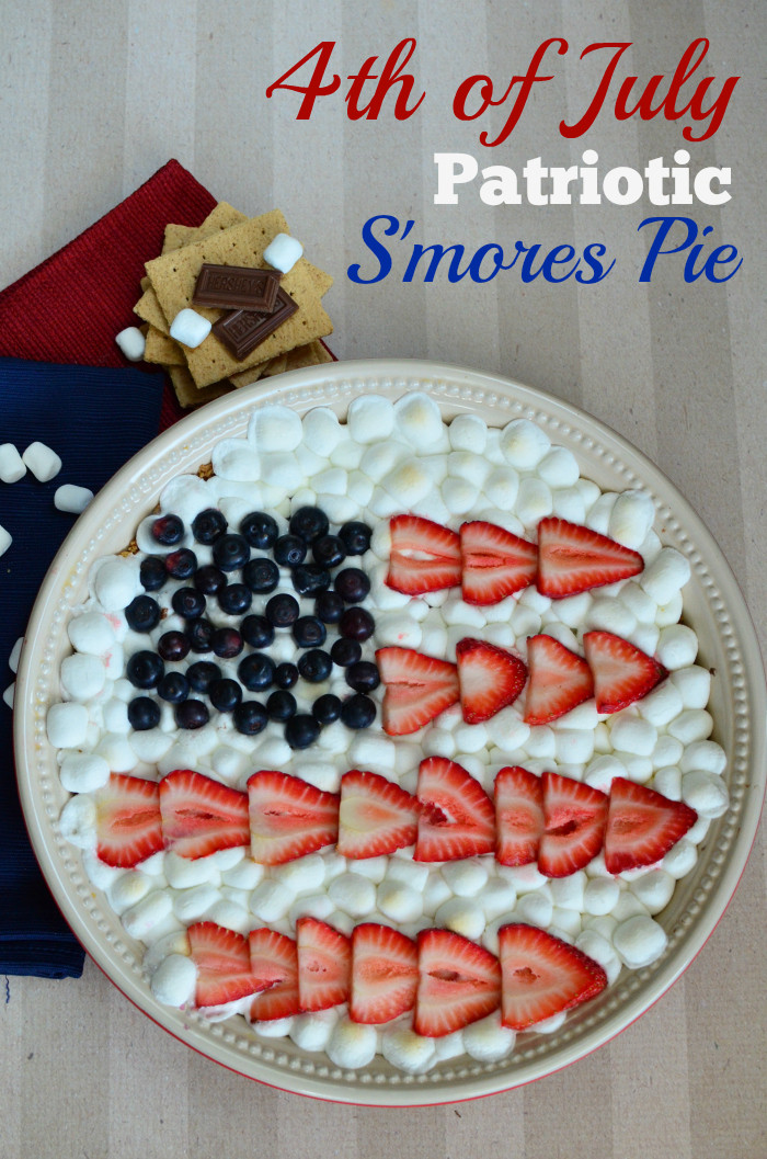Fourth Of July Pie Recipes  Heavenly 4th of July S mores Pie Recipe LetsMakeSmores