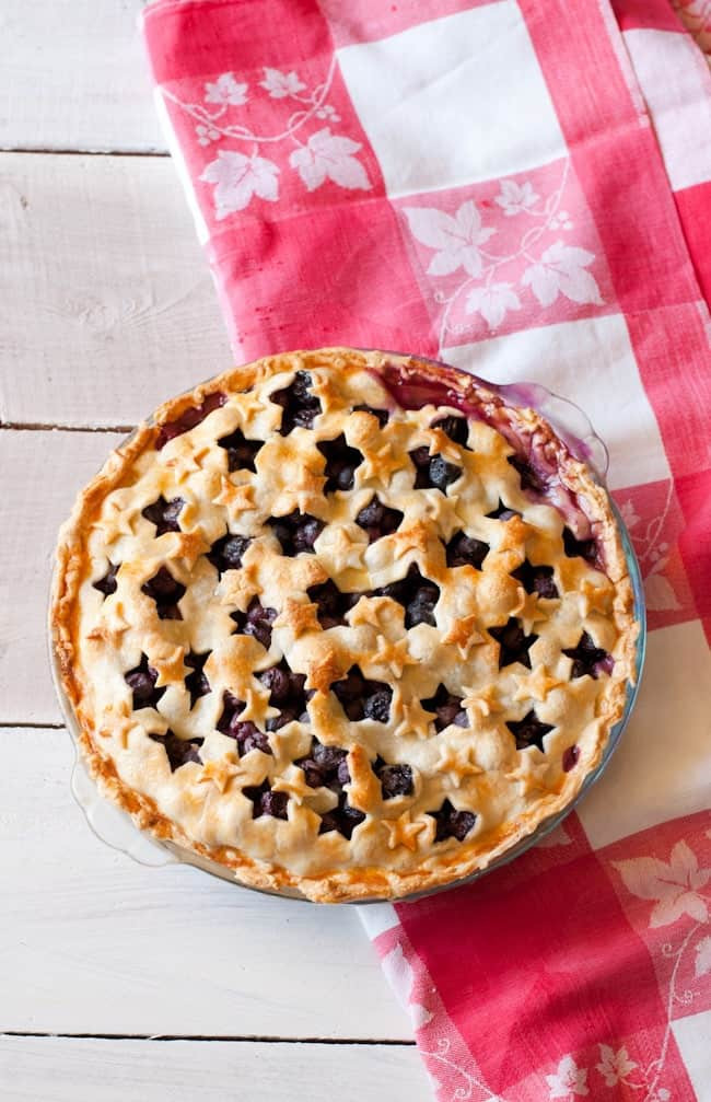 Fourth Of July Pie Recipes  4th of July Blueberry Pie