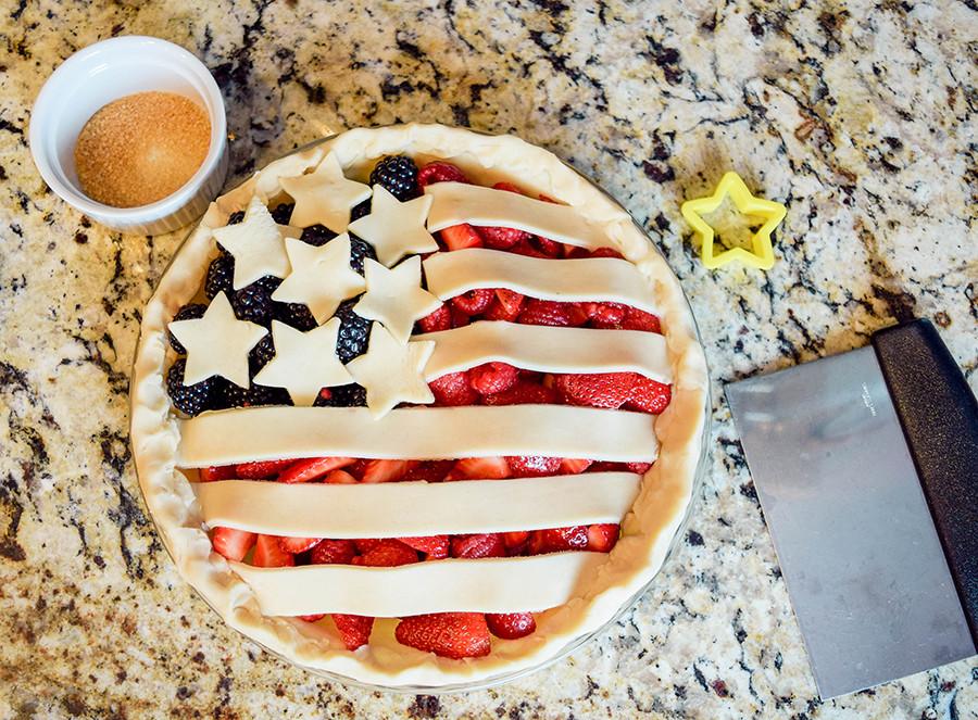 Fourth Of July Pie Recipes  Easy Fourth of July Berry Flag Pie [Recipe] Work Wear Wander