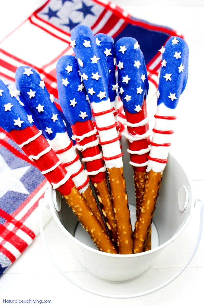 Fourth Of July Pretzels  10 Fourth of July Snacks for Kids Delicious Red White