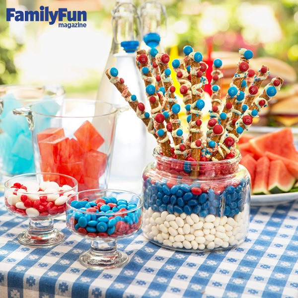 Fourth Of July Pretzels  Some Family Fun Fourth of July Pretzel Sticks Edible