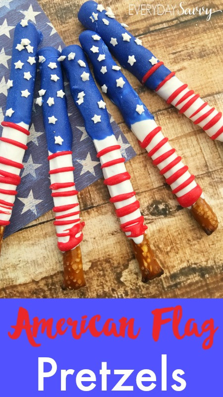 Fourth Of July Pretzels  Patriotic Snacks American Flag Pretzels