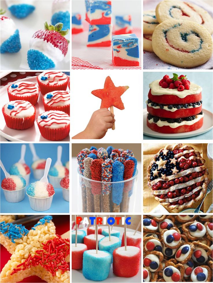 Fourth Of July Snacks And Desserts  4th of July Treats Red White & Blue Patriotic desserts