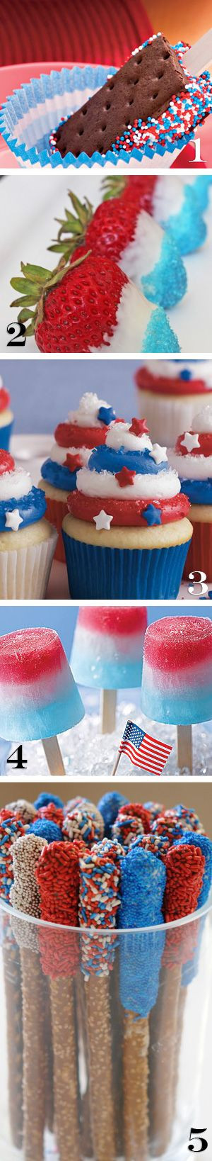 Fourth Of July Snacks And Desserts  4th of July ideas 4th of July Pinterest