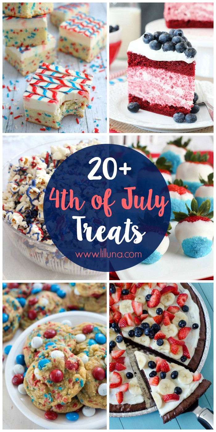 Fourth Of July Snacks And Desserts  20 4th of July Desserts Lil Luna