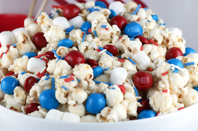 Fourth Of July Snacks And Desserts  Patriotic Popcorn Two Sisters