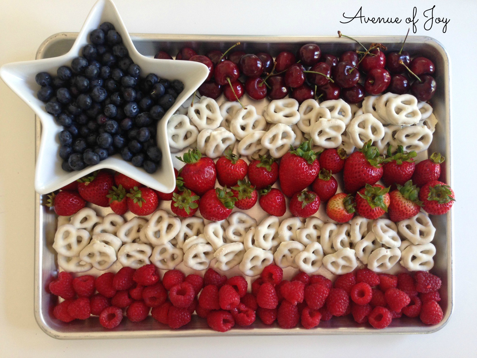 Fourth Of July Snacks And Desserts  All American Fruit Flag Dessert Snack and other 4th of