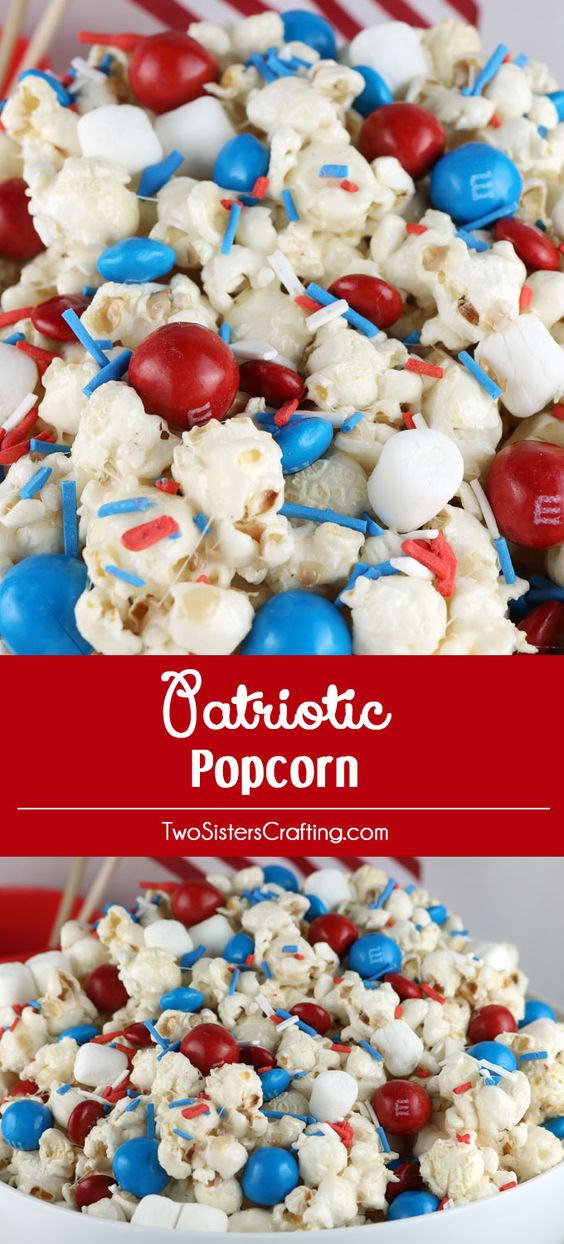 Fourth Of July Snacks And Desserts  4th of july desserts Popcorn and Sweet and salty on Pinterest
