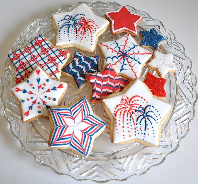 Fourth Of July Sugar Cookies  116 Best images about Sugar cookies with royal icing
