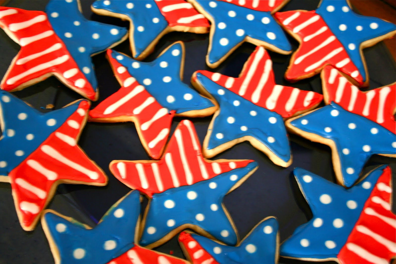 Fourth Of July Sugar Cookies  4th of July Sugar Cookies A Dash of Megnut