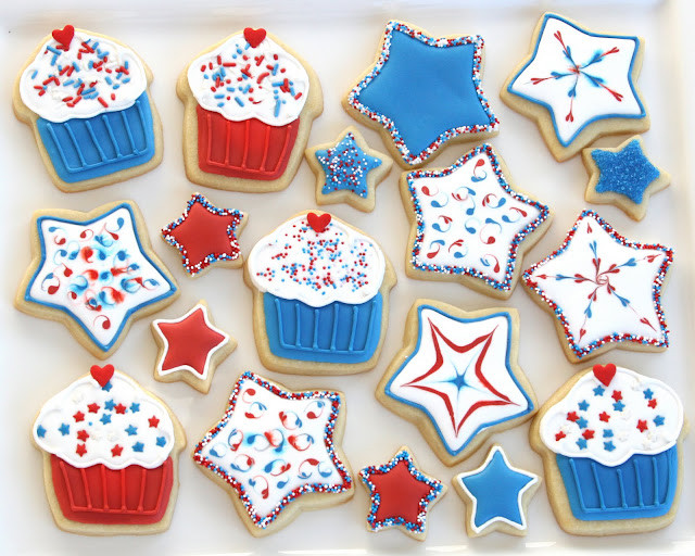 Fourth Of July Sugar Cookies  Festive 4th of July Treats – Glorious Treats