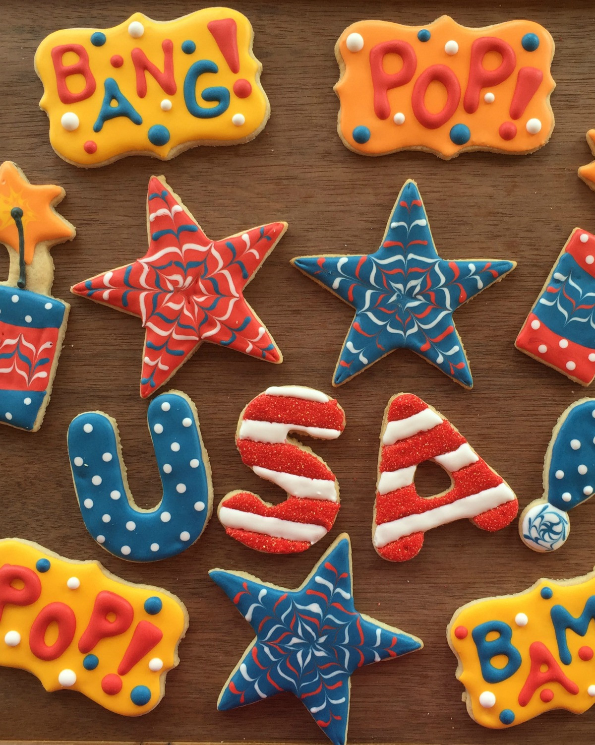 Fourth Of July Sugar Cookies  How to Decorate Fourth of July Sugar Cookies Peanut