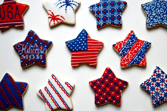Fourth Of July Sugar Cookies  4th of July Cookie & Icing Recipe Easy Icing Decorating