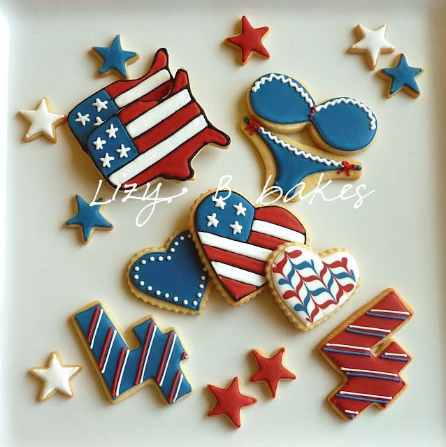 Fourth Of July Sugar Cookies  1000 images about Fourth of July sugar cookies on