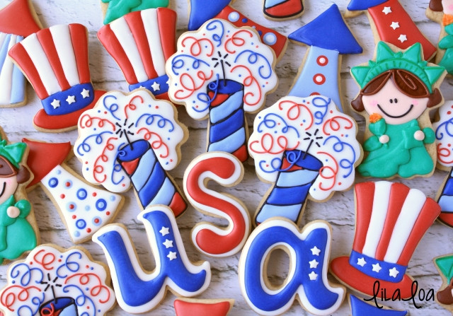 Fourth Of July Sugar Cookies  How To Make Decorated Firecracker Sugar Cookies for the
