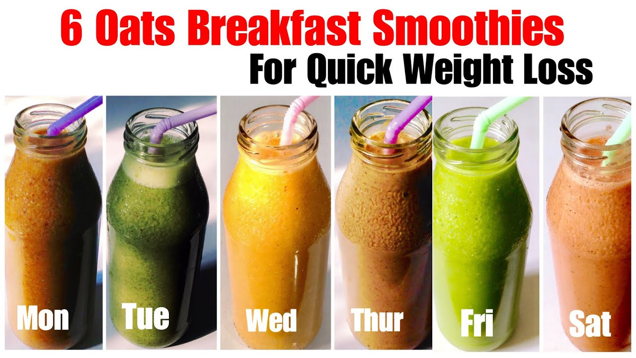 Free Healthy Smoothie Recipes For Weight Loss  6 Healthy Oats Smoothie Recipe