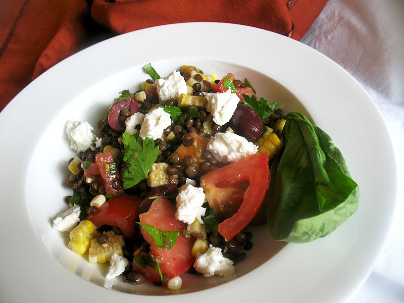 French Summer Recipes  French Lentil and Roasted Sweet Corn Summer Salad