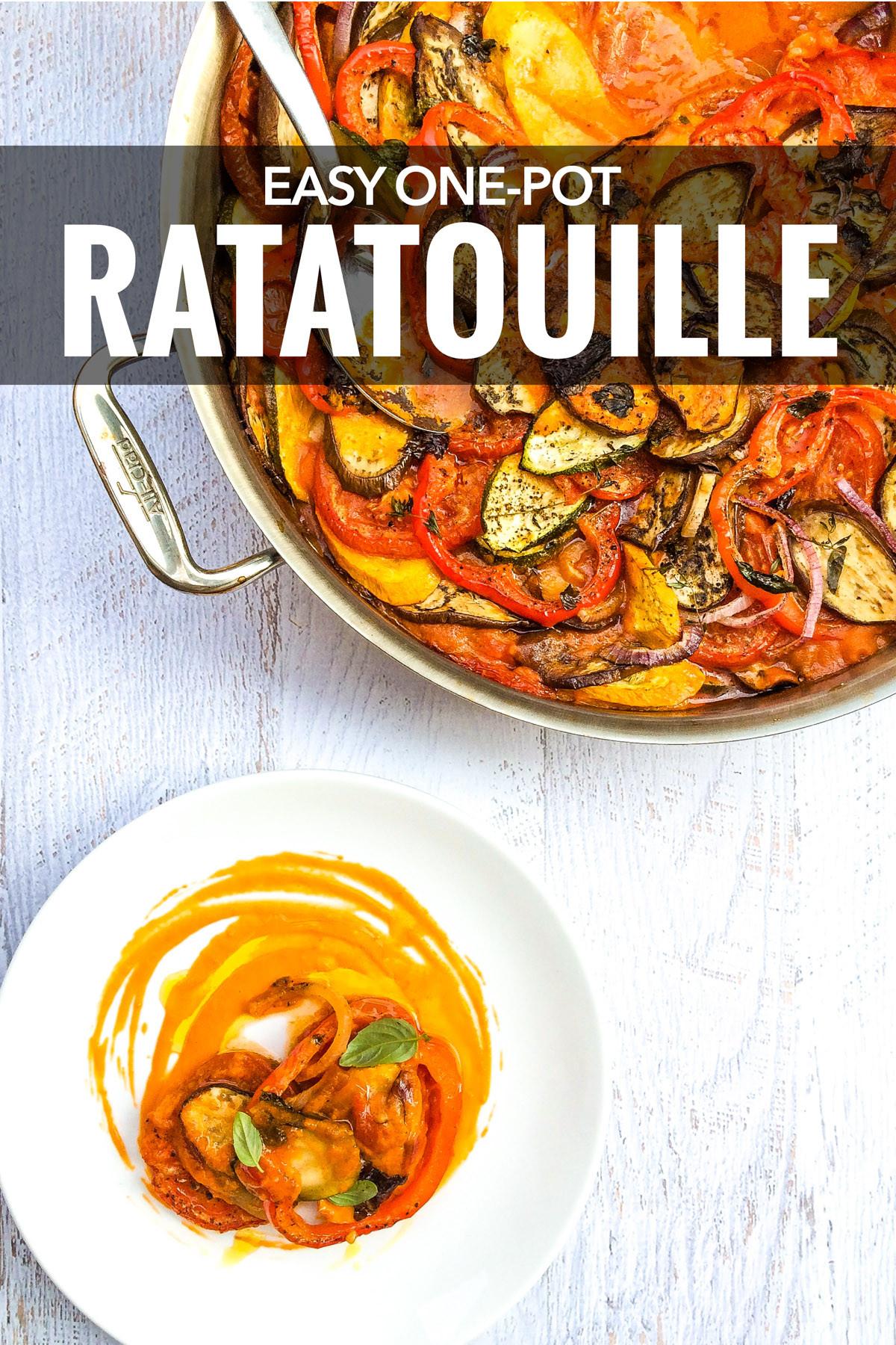French Summer Recipes  Easy e Pot Classic Ratatouille Recipe