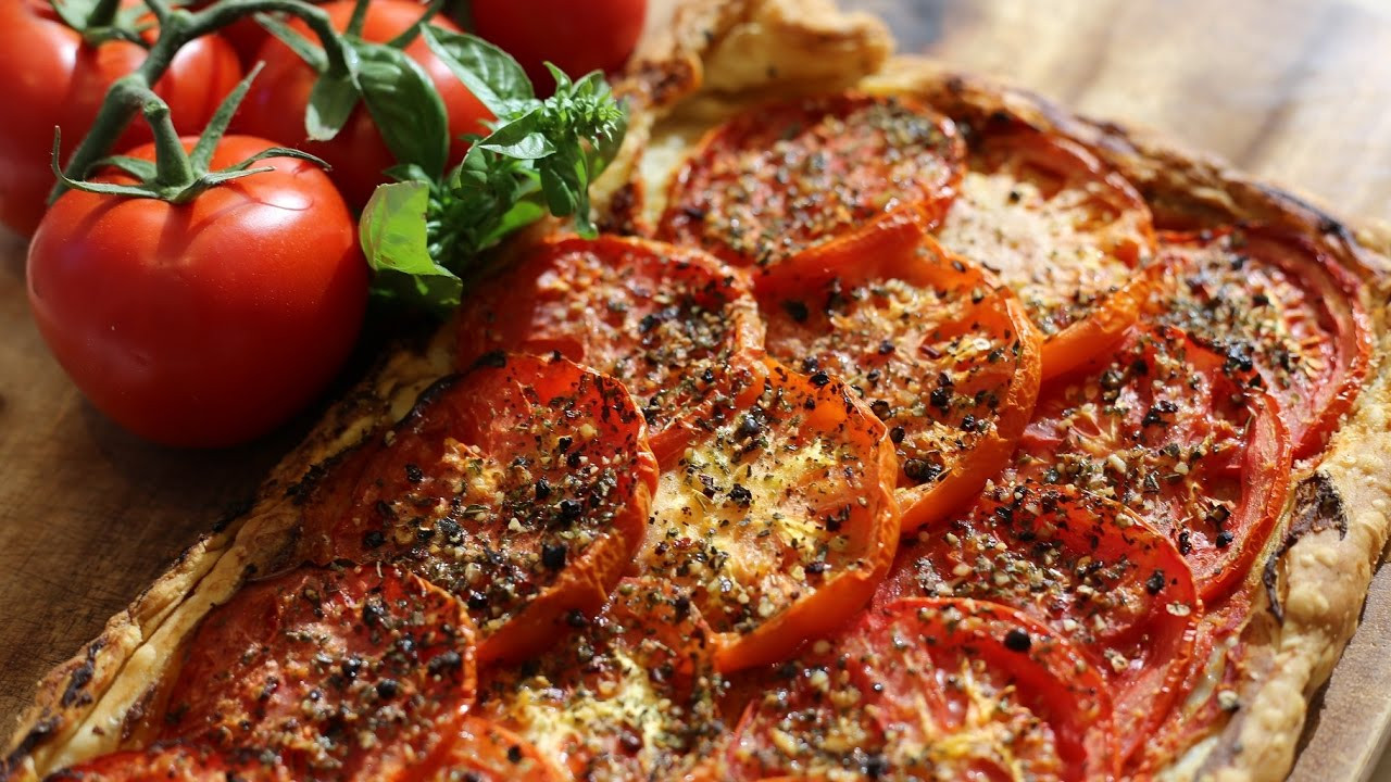 French Summer Recipes  Tomato Tart – Summer French cuisine – Ve arian Dishes
