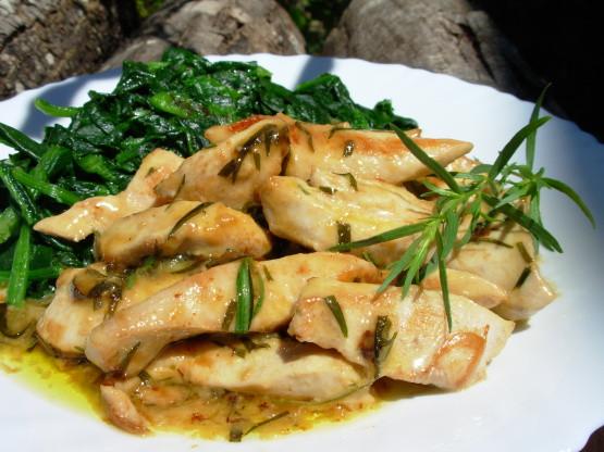 French Summer Recipes  TrAndegrave s Rapide French Summer Tarragon Chicken Recipe