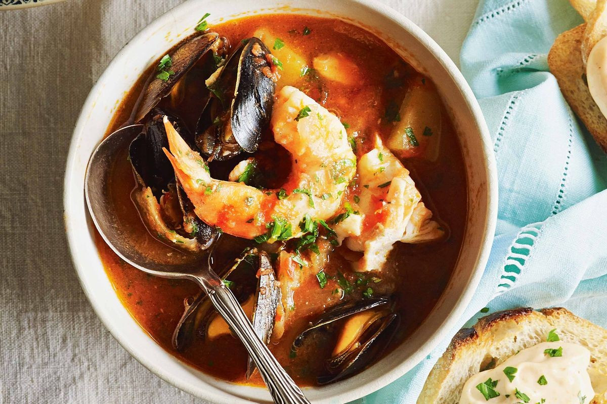 French Summer Recipes  French style fish stew Recipes delicious
