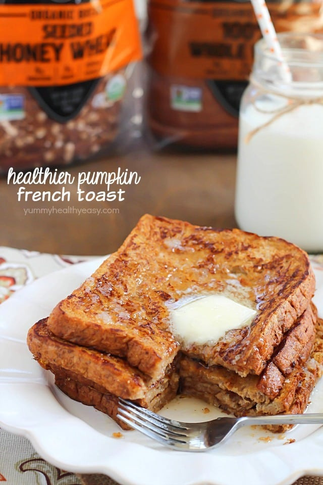 French Toast Healthy  Healthier Pumpkin French Toast Yummy Healthy Easy
