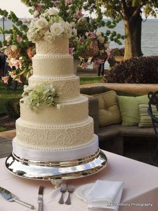 Fresh Flowers On Wedding Cakes  The Elizabeth Buttercream wedding cake with fresh flowers