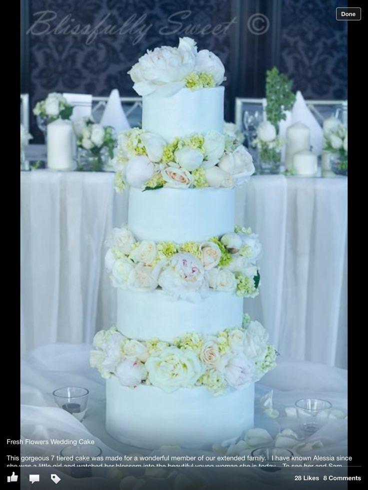Fresh Flowers On Wedding Cakes  Wedding cake fresh flowers Wedding