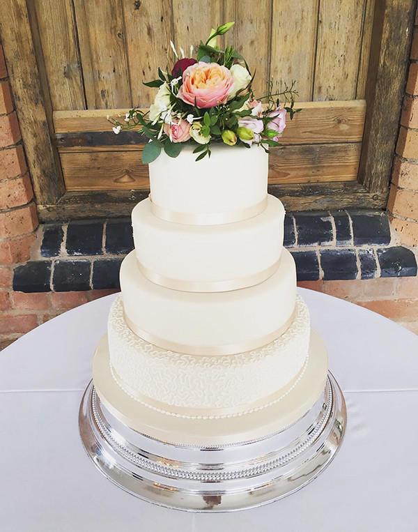 Fresh Flowers On Wedding Cakes  Wedding Cakes Archives The Cakery Leamington Spa