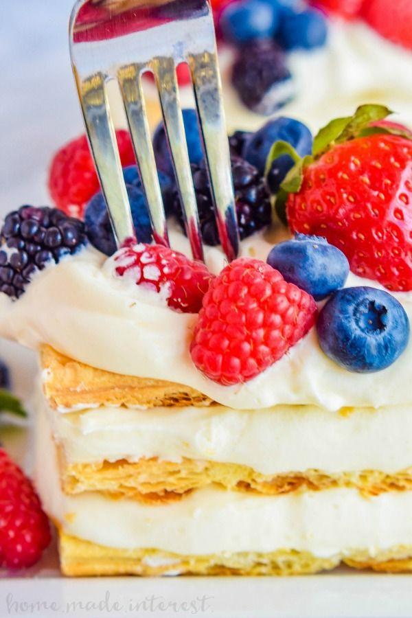 Fresh Fruit Desserts For Summer  Lemon Berry Napoleons