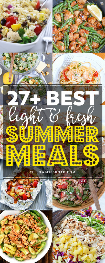 Fresh Summer Dinners  27 Light and Fresh Summer Meals Perfect for Al Fresco Dining