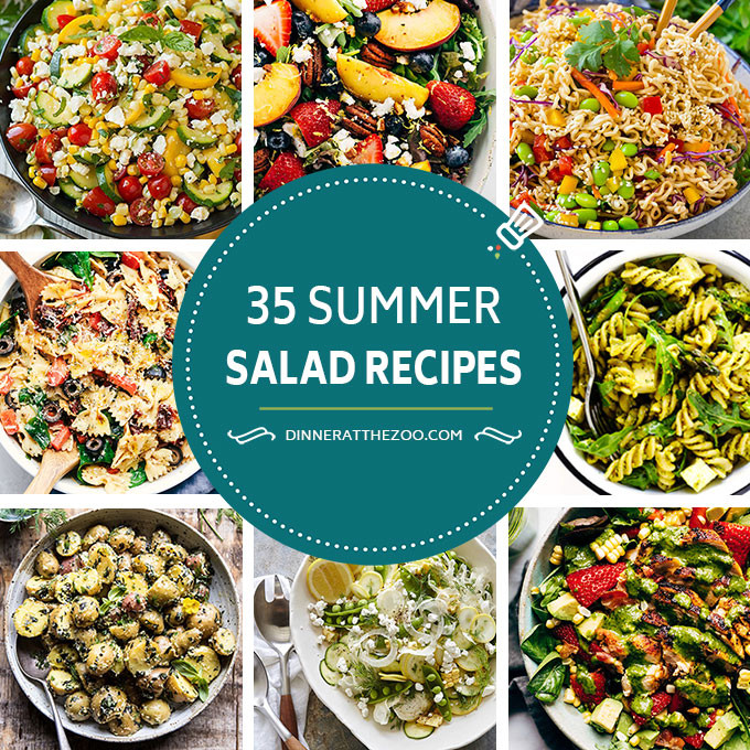 Fresh Summer Dinners  35 Summer Salad Recipes Dinner at the Zoo