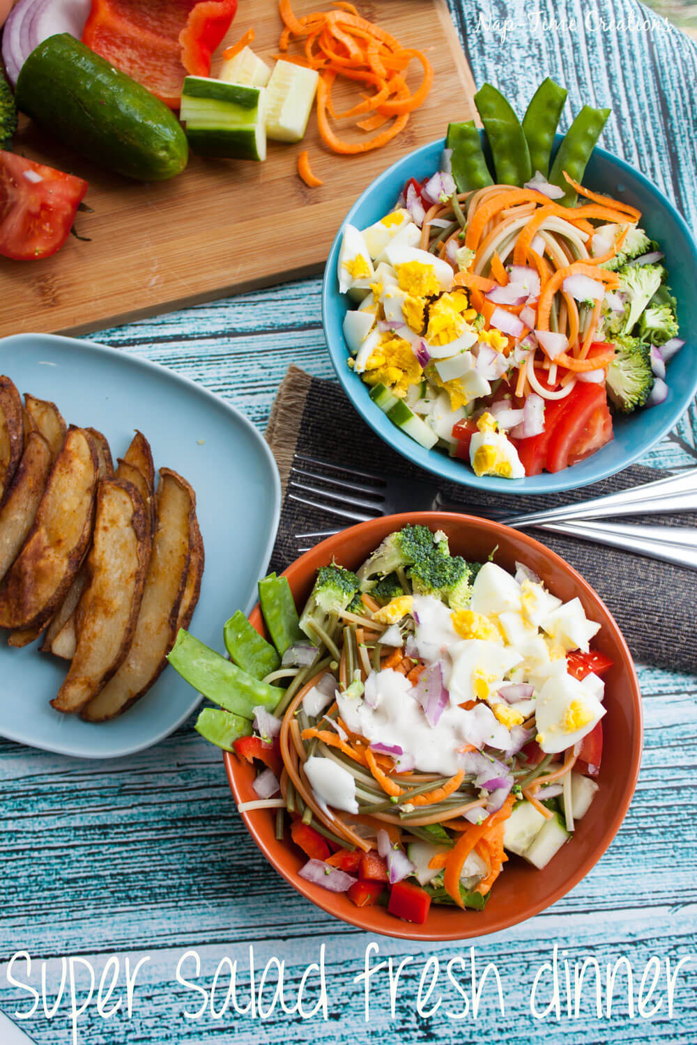 Fresh Summer Dinners  Super Salad Fresh Dinner Recipe Nap time Creations