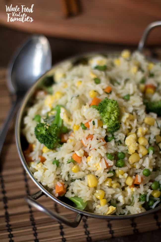 Fried Rice Healthy  Healthy Ve able Fried Rice