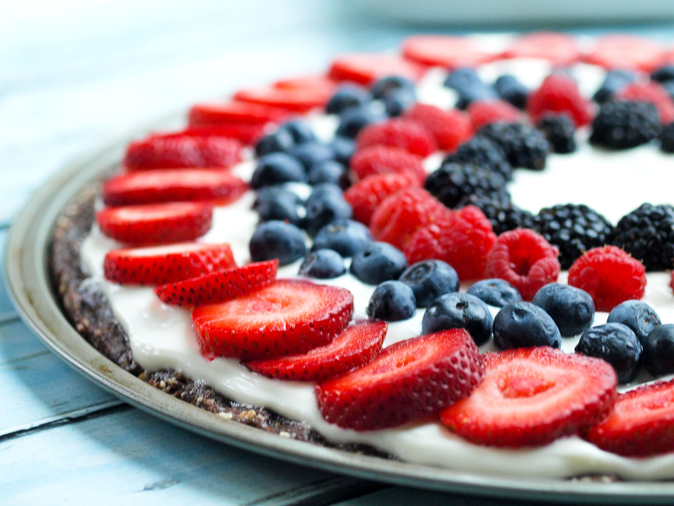 Fruit Desserts Healthy  Easy & Healthy Fruit Dessert Pizza Happy Healthy Mama