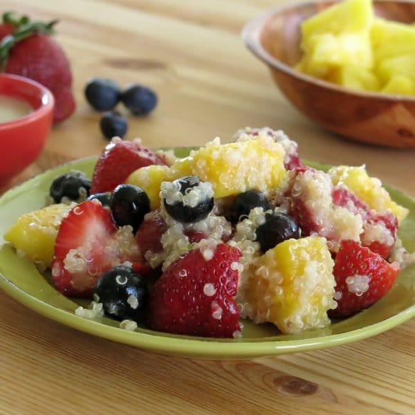 Fruit Salad For Easter Dinner  Quinoa Fruit Salad with Honey Lime Dressing The Dinner Mom