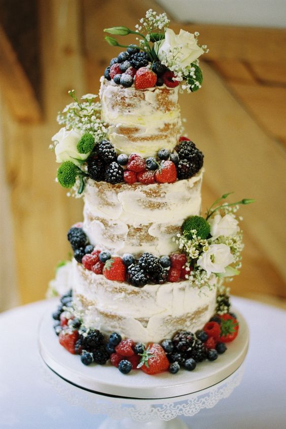Fruity Wedding Cakes  35 Delicious Semi Naked Wedding Cakes Weddingomania