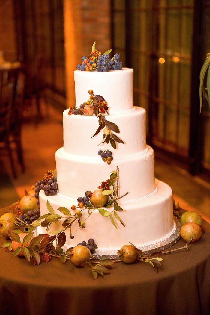 Fruity Wedding Cakes  A Simple Cake Fresh Fruits and Vine Wedding Cake