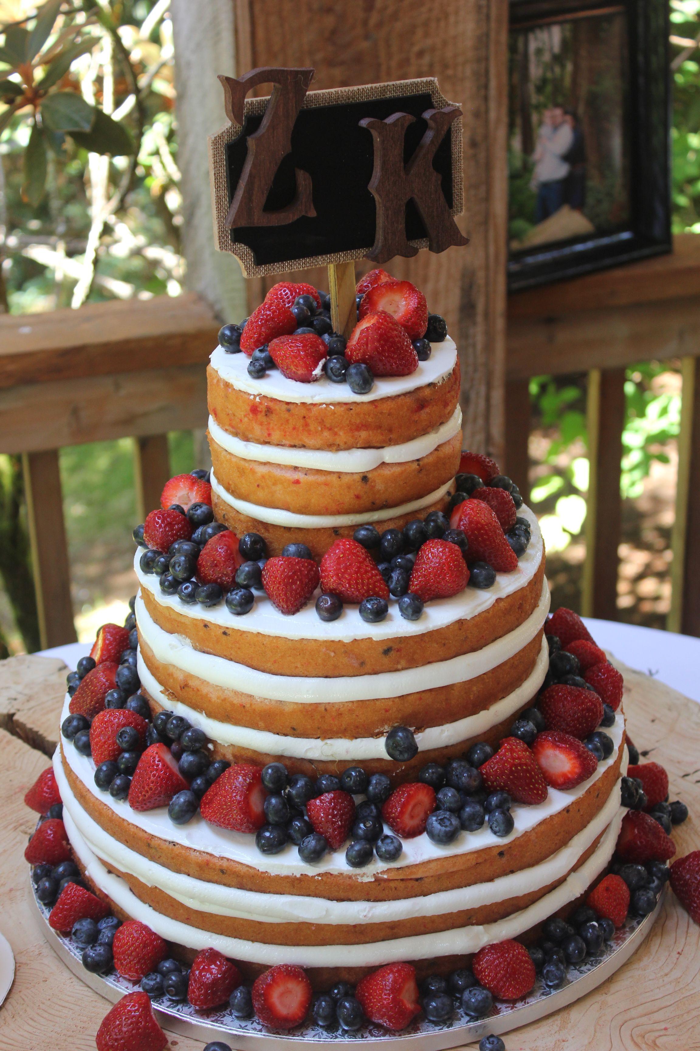 Fruity Wedding Cakes  Naked Fruit Wedding Cake