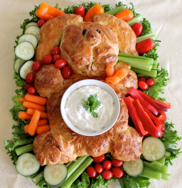 Fun Easter Appetizers  Bunny Bread Crudité Platter – A Simple Easter Appetizer